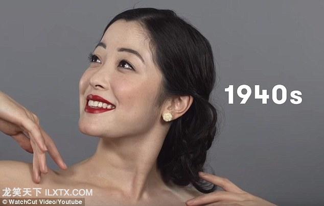1940s: 二战期间,中美同盟,这个时期的发型完全是西方式的,头发往后梳,没有刘海
