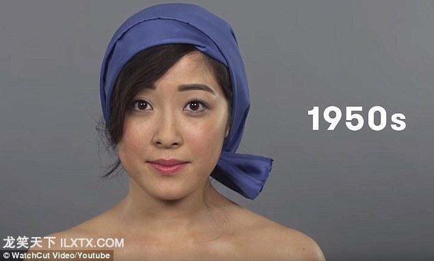 1950s: 共产主义社会摒弃了之前的潮流,辛勤劳动,皮肤被太阳晒黑的农家女孩成为新的美丽符号