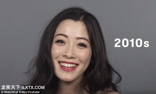 2010s: 韩国流行文化席卷而来,女性开始模仿明星的迷离眼神,白皙水灵的脸庞和长又卷的发型