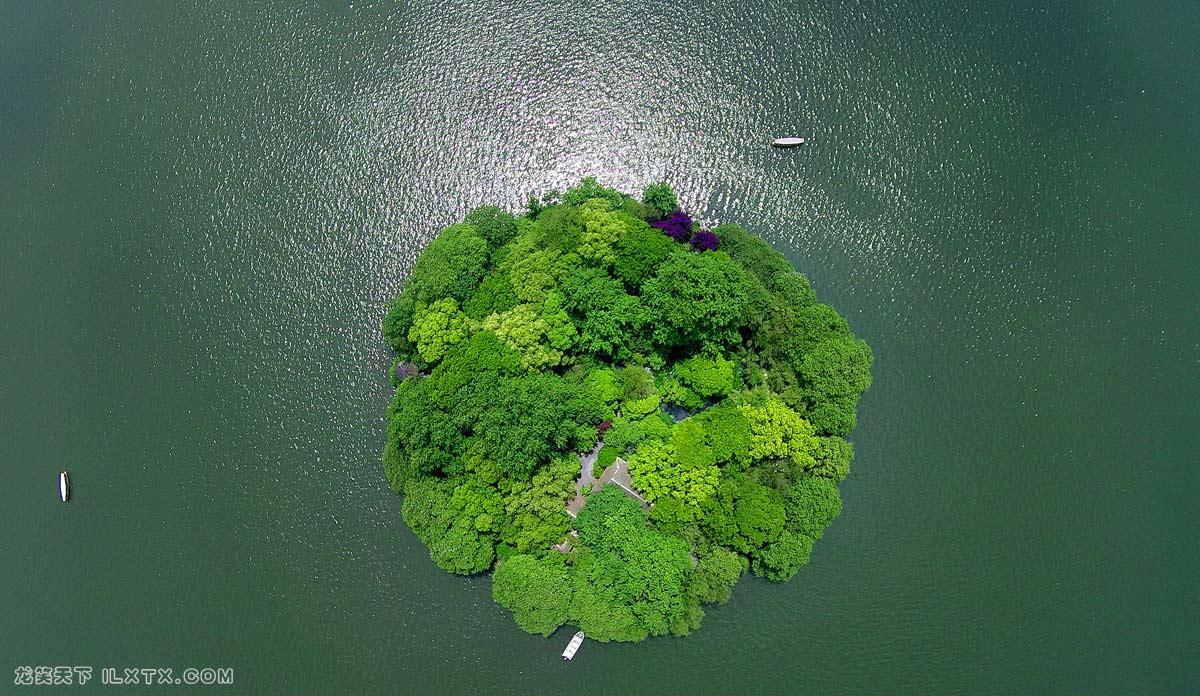 杭州西子湖畔的阮公墩岛 - 20150505