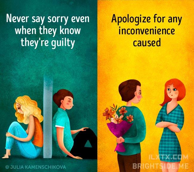 6. 负面的人就算知错也不愿道歉,正面的人会在任何造成他人不便的时候先说声抱歉