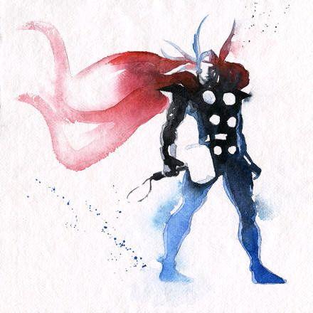 一起来看水墨风超级英雄