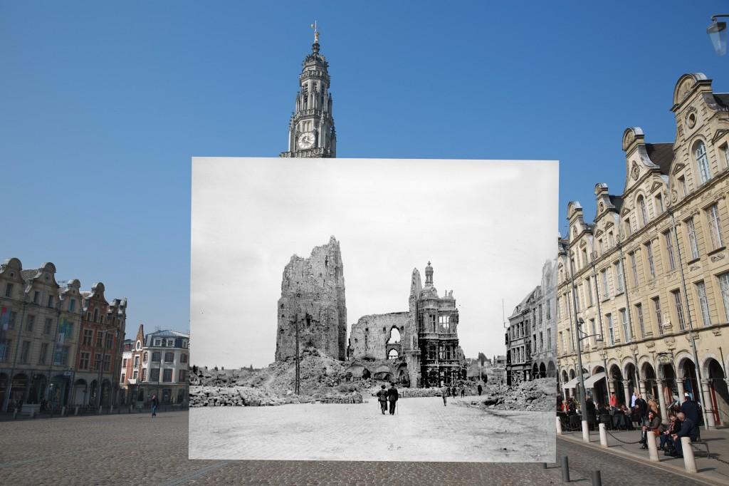 瞬间穿越100年,一战老照片与现实重叠